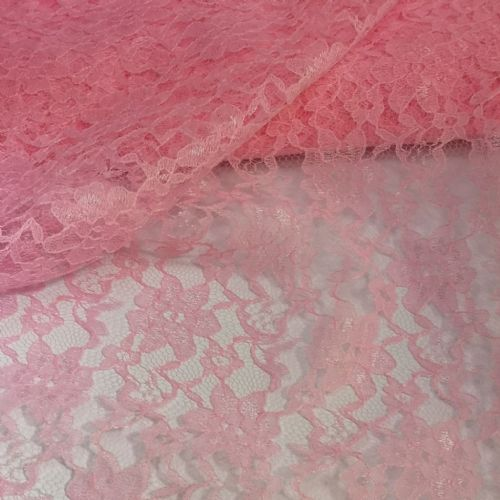 Pink Lace Fabric Bolt 54""